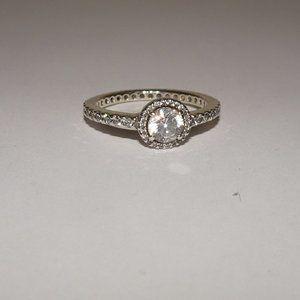 Pandora ALE S925 52 CZ Classic Beauty Ring Sz 6.25